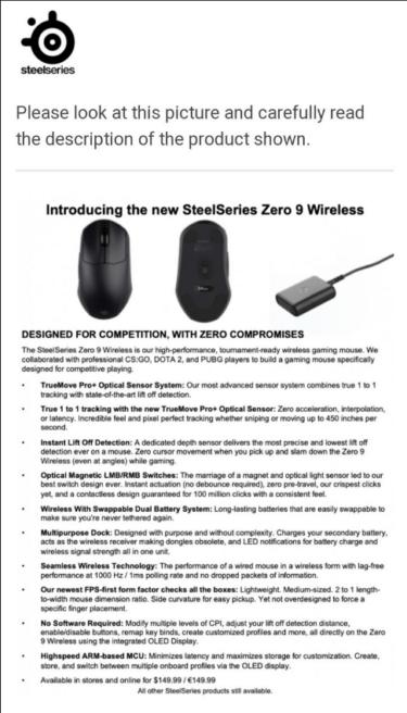 ゲーミングマウス買います SteelSeries Zero